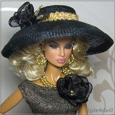 Hat--Fashion Royalty - Eugenia  by style4doll, via Flickr