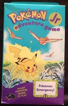 Pokemon Jr Emergency Adventure Game 1999 Factory Sealed