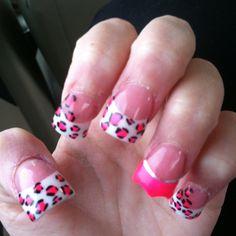 My nails!!! Jerseylicious nails!! Crown animal print!