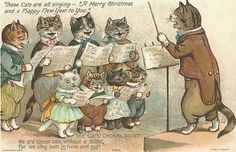Cards Scrapbooking and Art: Freebies: Vintage cat images