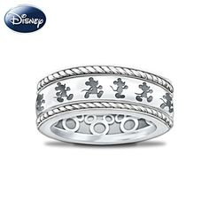 This is the cutest ring.  I so want it!!  It spins and looks like Mickey is walking!!  how cute!