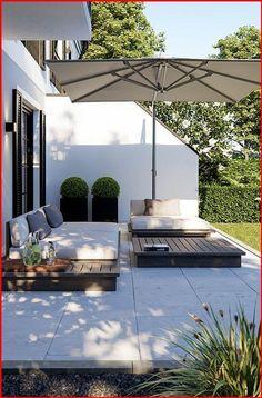 Design Exterior, Backyard Patio Designs, Backyard Landscaping, Landscaping Ideas, Pergola Designs, Pergola Patio, Flagstone Patio, Patio Roof, Concrete Patio