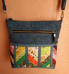 Fabric Tote Bags, Fabric Purses, Patchwork Bags, Quilted Bag, Homemade Bags, Denim Handbags, Craft Bags, Linen Bag, Denim Bag