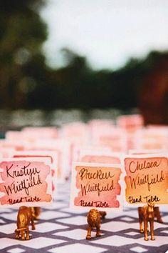 Creative Wedding Escort Cards (BridesMagazine.co.uk)