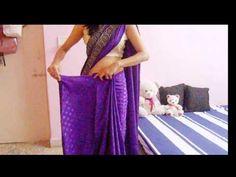 How To Wrap A Saree-How To Drape A Saree On Backless Blouse/Wear Saree L...