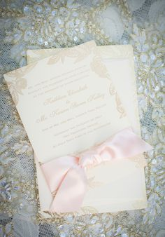 Wedding Invitation | See more on SMP: http://www.StyleMePretty.com/california-weddings/orange-county/2014/01/23/downton-abbey-wedding-inspiration-at-the-french-estate/ True Bliss Photography