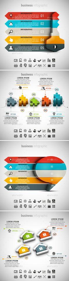 4 in 1 Business Infographics Templates PSD, Vector EPS, AI Illustrator Bundle. Download here: https://graphicriver.net/item/4-in-1-business-infographics-bundle/17068876?ref=ksioks