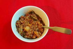 Fruchtige Rinderhacksauce mit Quinoa und Mandarine+