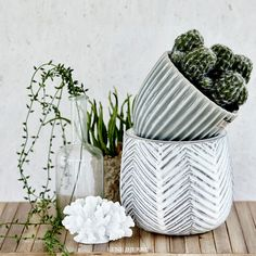 Flowerpots that calms the soul. Lene Bjerre SS17. Collection.