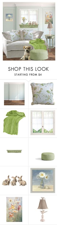 """""""Subtle Spring Decor"""" by terry-tlc ❤ liked on Polyvore featuring interior, interiors, interior design, home, home decor, interior decorating, Stein World, Rizzy Home, WALL and Universal Lighting and Decor"""