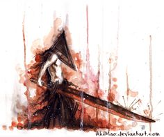 pyramid head Art Print by AkiMao - X-Small Head Tumblr, Silent Hill Art, Pyramid Head, Predator Alien, Dreams And Nightmares, King Of Fighters, Movie Poster Art, Cute Little Things, Dark Souls