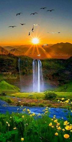 Beautiful sunset landscape more at @ Beautiful Nature Pictures, Beautiful Nature Wallpaper, Amazing Nature, Nature Photos, Beautiful Landscapes, Nature Artwork, Beautiful Scenery, Beautiful Nature Scenes, Amazing Sunsets