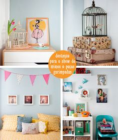 Casa muito linda em tons de azul! Com certeza eu faria vários cômodos iguais a este!!!