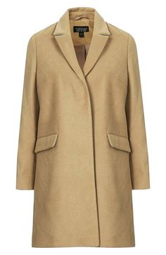 Topshop 'Maisie' Slim Brushed Coat | Nordstrom