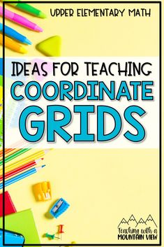 Are you teaching coordinate grids this year? Learning about coordinate graphs is one of my favorite ways to integrate social studies and math together as we create maps and plan out 'real life' situations! Take a peek at my favorite coordinate grid activities for 5th and 6th grade math that go beyond anchor charts and worksheets! Elementary Math, Upper Elementary, Simple Math, Easy Math, Math Boards, 5th Grade Math, Sixth Grade, Common Core Math, Math Resources