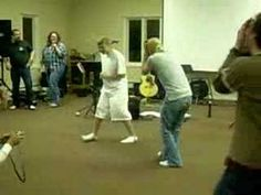 This was one of our youth groups favorite games! Even more fun to watch than to play :)