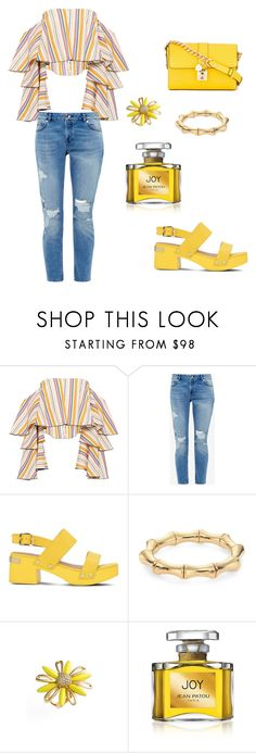 """""""Birthday 🎉 Dinner"""" by mrsagosto ❤ liked on Polyvore featuring Caroline Constas, Ted Baker, Love Moschino, Gucci, Kate Spade, Jean Patou and Dolce&Gabbana"""