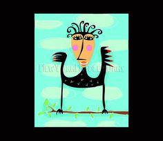 Bird Abstract Cross Stitch Pattern Bird by NewYorkNeedleworks, $8.50