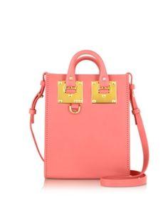 Bright Pink Saddle Leather Albion Nano Tote Bag