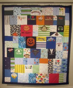 Baby Clothes Quilt created by Jelly Bean Quilts