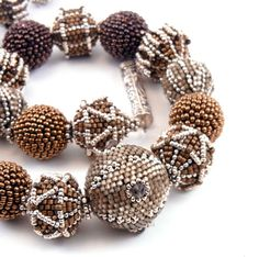OOAK Handmade Beaded Bead Necklace Colors of by TheBeadedBead