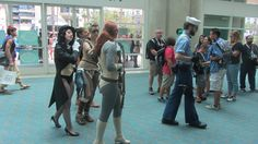Costumed characters milling in the lobby of San Diego Convention Center during San Diego Comic Con, California, 2015 | Photo by Patty Mooney of Crystal Pyramid Productions in San Diego - sandiegovideoproduction.com/video-producers/patty-mooney/