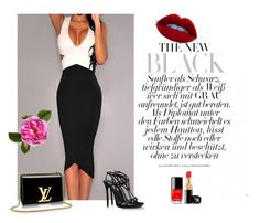 """Black"" by aminahadzic5 ❤ liked on Polyvore featuring Dsquared2 and Chanel"