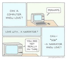 Poorly Drawn Lines – Computer Love Computer Love, What Is Love, My Love, Can You Be, Comic Strips, New Books, Fun Facts, Laughter, Knowledge