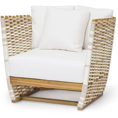 Hines Modern Classic Rope Wrapped Outdoor Lounge Chair ($2) ❤ liked on Polyvore featuring home, outdoors, patio furniture, outdoor chairs, outdoor garden furniture, contemporary outdoor chairs, outdoor patio chairs and outside patio chairs