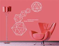 Geometrische Abbildung PVC Startseite Wandtattoo Aufkleber 135 x 150cm (Dunkelgrau) - HJ0887S