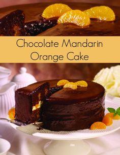 Chocolate Mandarin Orange Cake! With a surprising hint of orange, no chocolate lover can resist this chocolate orange cake recipe. | The Jenny Evolution