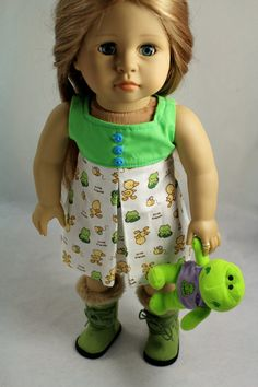 Little friends Dress for American Girl dolls by by MIGURLZCLOTHING, $10.00