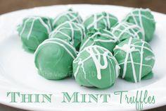 Thin Mint Truffle #recipe #desserts