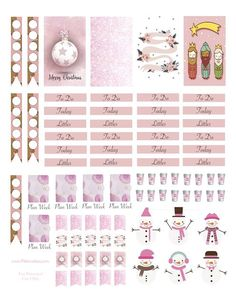Pink Christmas Planner Stickers                                                                                                                                                                                 More