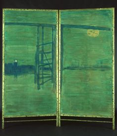 Blue and Silver: Screen with Old Battersea Bridge by James Abbott McNeill Whistler. Medium: distemper and gold paint on paper; Tonal Harmony, Whistler's Mother, James Abbott Mcneill Whistler, Most Famous Paintings, Art For Art Sake, Nocturne, Gold Paint, Sculpture, American Artists