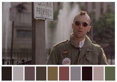 Paletas de cores mostram como as cores podem definir o tom de filmes famosos