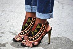African inspired heels
