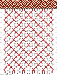 Muster # 8598, Streicher: 20 Zeilen: 24 Farben: 2
