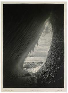 A Cavern in an Iceberg, Herbert George Ponting