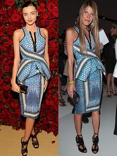 We first witnessed this printed Peter Pilotto number back in November when Miranda Kerr waltzed down the red carpet at Museum of Modern Art's 4th Annual Film Benefit. It was then that we realised the peplum look was going to be MASSIVE and we were right, as this fab little dress was still making a statement this weekend when Anna Dello Russo wore it to Men's fashion week in Milan.