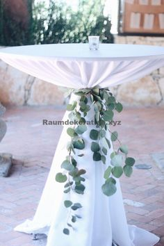 Eucalyptus cocktail table ties for wedding table ideas # Outdoor Weddings cheap Trending-Organic Inspired White and Greenery Wedding Ideas Floral Wedding, Fall Wedding, Dream Wedding, Trendy Wedding, Wedding Greenery, Wedding Pins, Wedding White, Simple Elegant Wedding, Classic Diy Wedding Decor