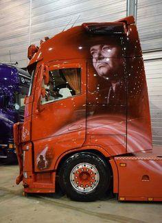 Cabover Customised Trucks, Custom Trucks, Show Trucks, Big Rig Trucks, Ferrari F80, Volvo Trucks, Diesel, Valentino Rossi, Transportation Design