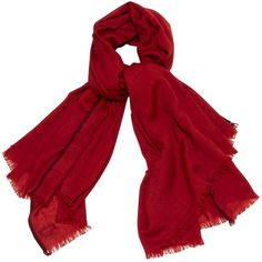 Pre-owned Hermès Cashmere Stole (€565) ❤ liked on Polyvore featuring accessories, scarves, red, hermès, cashmere scarves, fringe scarves, cashmere shawl and red scarves