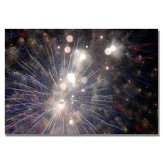 Trademark Fine Art Kurt Shaffer 'Abstract Fireworks 33' Canvas Art