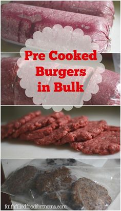 This weeks featured post on Front Porch Friday is from Faith Filled Food for Moms: Make homemade precooked burgers in bulk to save time and money | PreparednessMama