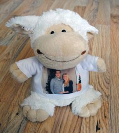 PERSONALIZED PLUSH TOY SHEEP WITH YOUR PHOTO OR IMAGE #Unbranded Dog Toys, Baby Toys, Girls Who Lift, Book Lovers, Sheep, Your Photos, Giraffe, Plush, Teddy Bear