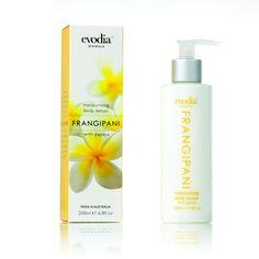 Frangipani Moisturiser Size: 250ml  RRP: AUD$14.95  Product Code: 1252204  available from www.evodia.com.au Moisturiser, Body Lotion, Aud, Soap, Coding, Bottle, Moisturizer, Flask, Bar Soap