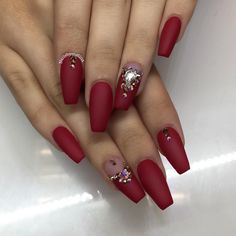 Best Nail Art Design With Crimson Great Nails, Fabulous Nails, Gorgeous Nails, Crome Nails, Manicure E Pedicure, Bridal Nails, Hot Nails, Fancy Nails, Beautiful Nail Art