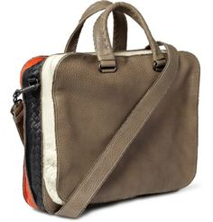 Bottega Veneta Banded Full Grain Leather Tote Bag