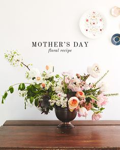 Learn how to make a beautiful floral arrangement for Mother's Day